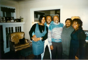 My birth family circa the early '90s: (from left) my sister, Sharon; brother, Curtis Jr.; father, Curtis Sr.; mother, Santranella; and me