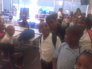 Joshua's first day in public school